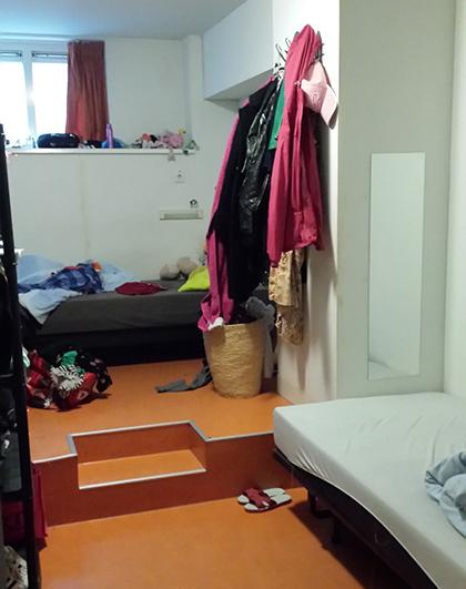 Slaapkamer Opvangcentra De Elandsstraat