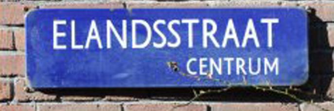 Naambordje Elandsstraat